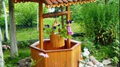 Декоративні колодязі в дизайні садової або дачної ділянки