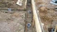 Фундамент з азбестоцементних труб без роствера