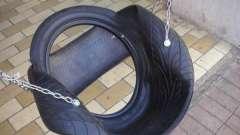 Як зробити дитячі гойдалки з автомобільних шин