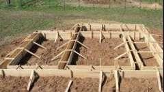 Розрахунок опалубки перекриттів, фундаменту, стін