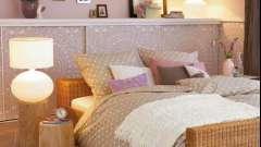 Полиці над ліжком і узголів'я з полками: зручно і стильно