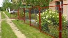 Побудувати паркан із сітки своїми руками