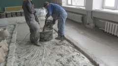 Приготування розчину для стяжки підлоги