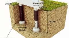 Самостійне зведення стовпчастого фундаменту з пластикових труб