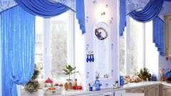 Сучасне оформлення вікон на кухні шторами різних видів