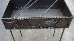 Пристрій переносних і стаціонарних мангалів