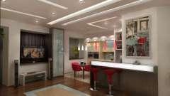 Варіанти оформлення дизайну стелі в кухні вітальні